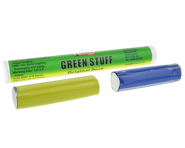 Green Stuff Stick is the original formulation green modelling putty in stick format and one of the world's best modelling products