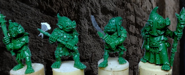Fantasy goblins and miniatures made using Green Stuff Modelling Putty