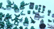 A Collection Of Miniatures Made Using Green Stuff